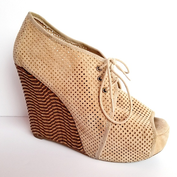 92008aa59b5 Jeffrey Campbell Shoes - Jeffrey Campbell Perforated Suede Bootie